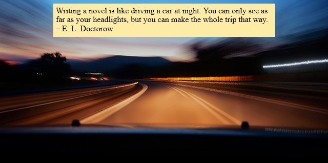 Driving--Writing quote