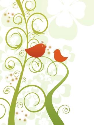 Birds whimsy