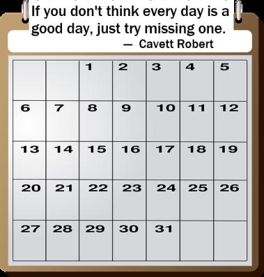 calendar + quote